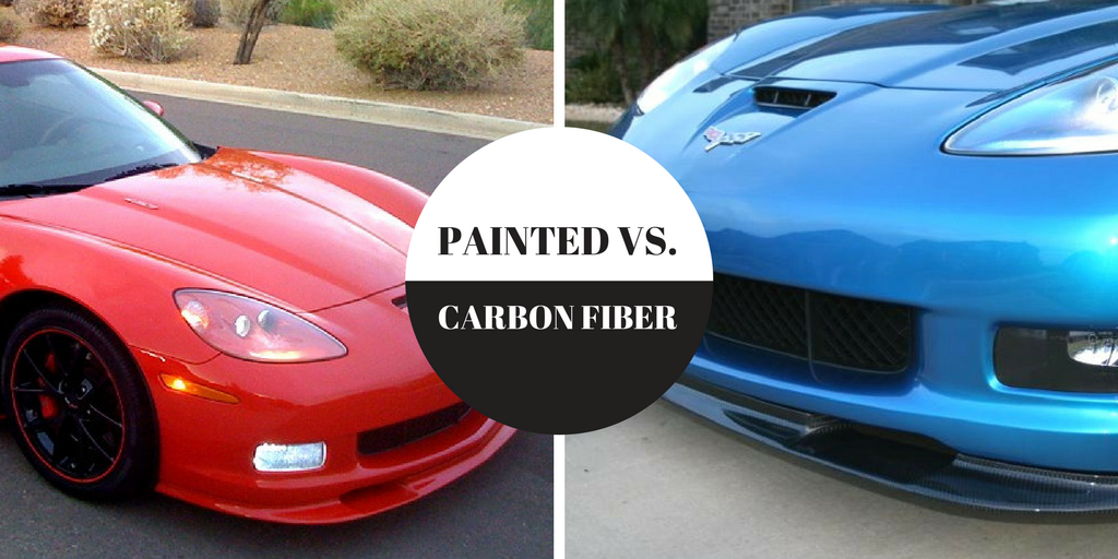 carbon fiber vs. painted parts