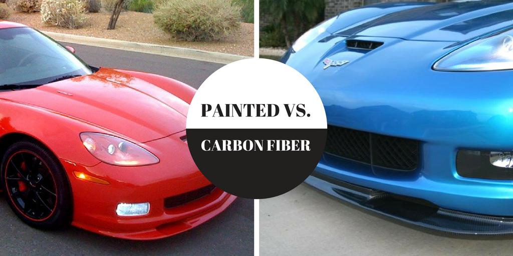 carbon fiber vs. painted parts