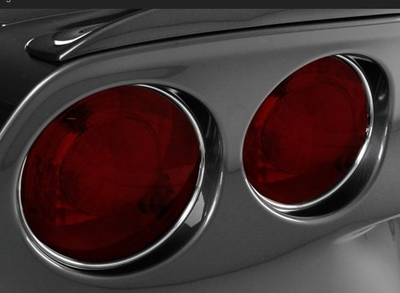 C6 Corvette Chrome Vinyl Tail light Trim Kit