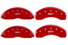 2008-2012 Ford F-350 Super Duty MGP Caliper Covers Red/Silver