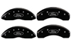 2010-2012 Ford Taurus MGP Caliper Covers Black/Silver