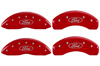 2010-2012 Ford Taurus MGP Caliper Covers Red/Silver