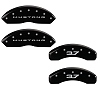 2015-2019 Ford Mustang V6 3.7L Caliper Covers Black