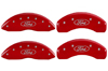 2013-2014 Ford Taurus MGP Caliper Covers Red/Silver