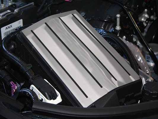 2010-2015 Camaro Fuse Box Cover Polished Stainless Steel