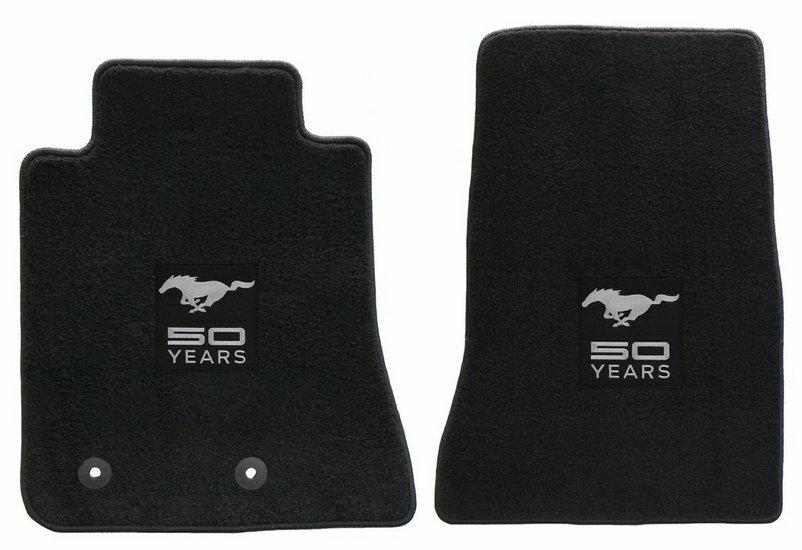2015 Ford Mustang Lloyd Floor Mats - 50th Anniversary Logo