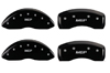 2005-2013 C6 Corvette MGP Caliper Covers Black/Silver