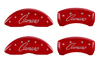 2010-2014 Chevrolet Camaro MGP Caliper Covers Red/Silver