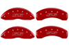 2002-2006 Chevrolet Avalanche 2500 MGP Caliper Covers Red/Silver