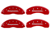 2000-2005 Chevrolet Impala MGP Caliper Covers Red/Silver