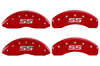 2000-2005 Chevrolet Monte Carlo MGP Caliper Covers Red/Silver