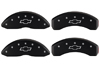 1991-1995 Chevrolet Caprice MGP Caliper Covers Black/Silver