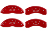 1991-1995 Chevrolet Caprice MGP Caliper Covers Red/Silver