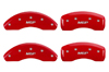 2011-2014 Chevrolet Volt MGP Caliper Covers Red/Silver