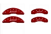 2016-2019 Camaro MGP Caliper Covers Red w/SS Logo