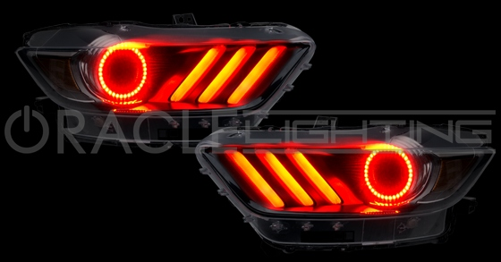 ford mustang led headlight concept halo kit rpidesigns com
