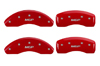 2013-2014 Toyota Avalon MGP Caliper Covers Red