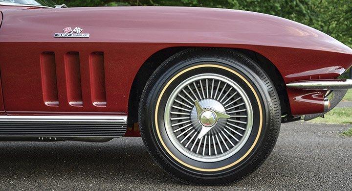 1966 C2 Corvette Knock Off Wheel Set Replica Style - Complete
