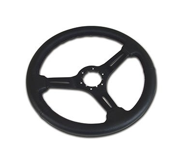 1968-1982 C3 Corvette Black Leather/Black 3 Spoke Steering Wheel
