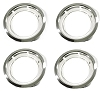 1972-1973 C3 Corvette Chrome Wheel Trim Rings Set 8 Inch
