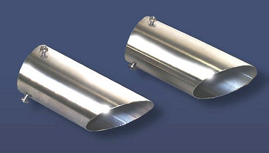 1974-1984 C3 C4 Corvette Exhaust Extensions Tips Stainless Steel