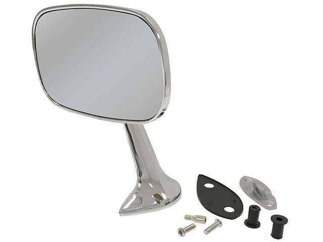 1975-1979 C3 Corvette Mirror Right Outside Chrome With Mount Kit