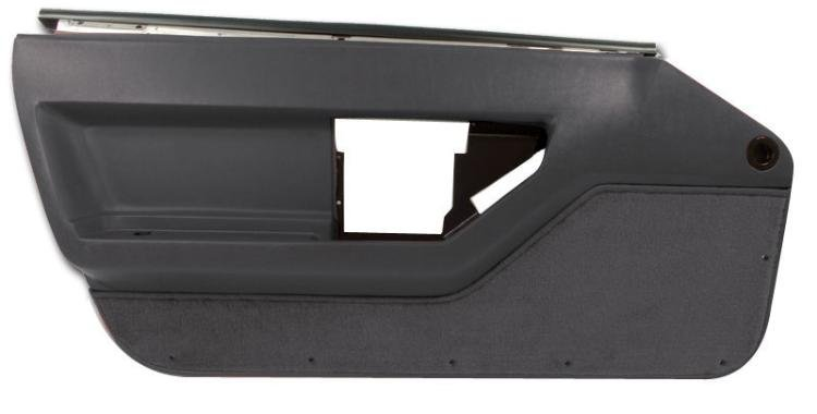 1984-1989 C4 Corvette Interior Deluxe Door Panels Black
