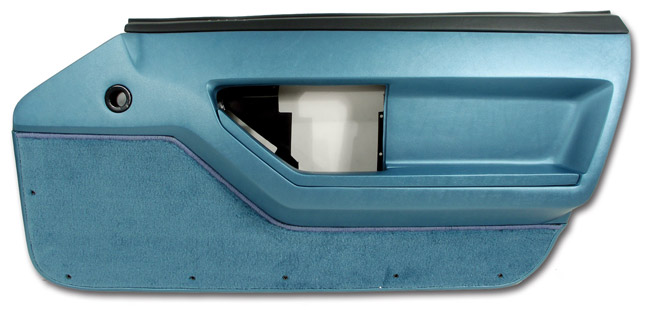 1986-1989 C4 Corvette Interior Standard Door Panels Blue