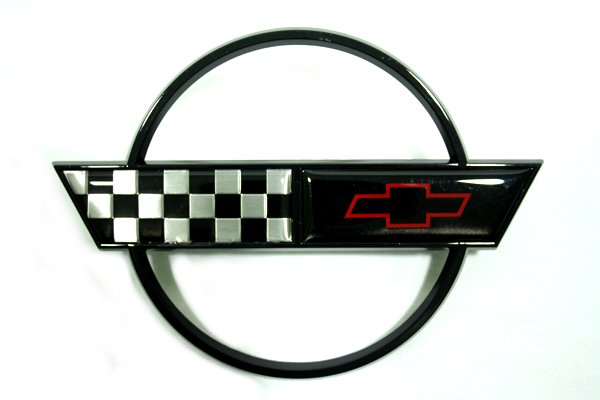1991-1996 c4 corvette gas door emblem (black) - rpidesigns