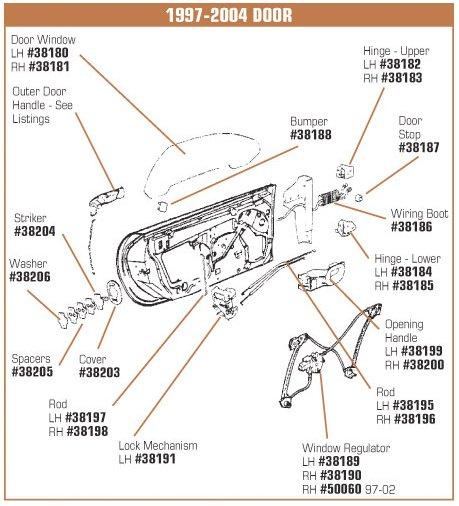 C5 corvette door panel mount repair retainer - C5 corvette interior door panels ...
