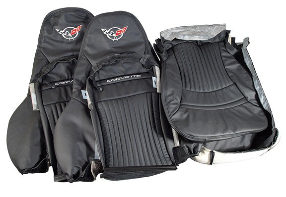 97-2004 C5 Corvette Replacement Embroidered Leather Sport Seat Covers