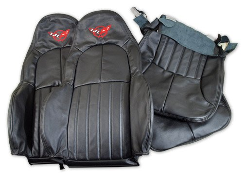 C5 Corvette Replacement Embroidered Leather Standard Seat Covers