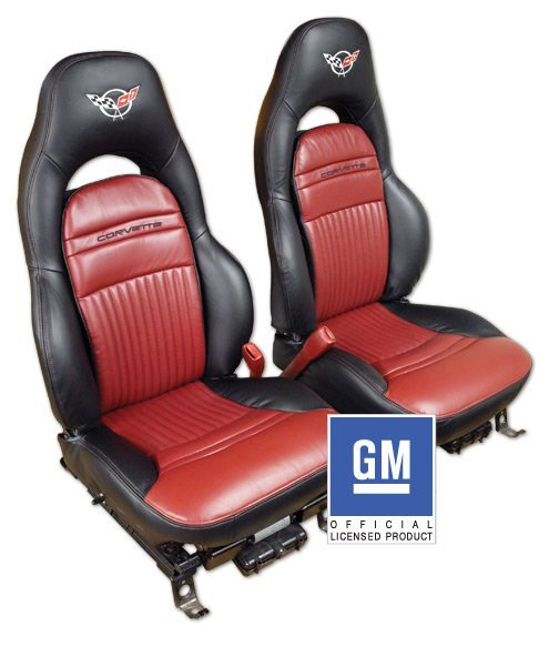 C5 Corvette Replacement Leather Embroidered Seat Covers