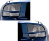 2005-2009 Mustang Painted Headlight Splitters