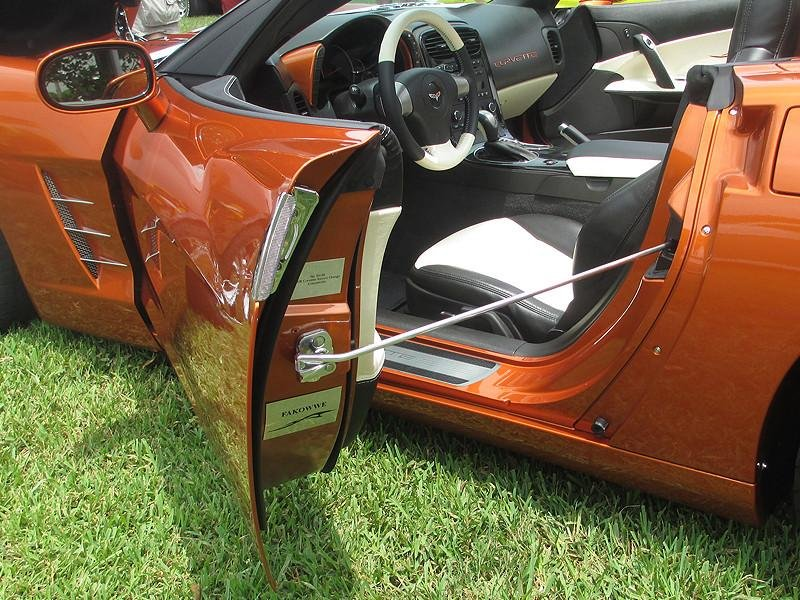 C Corvette Door Show Prop Bars RPIDesignscom - Car show door prop rod