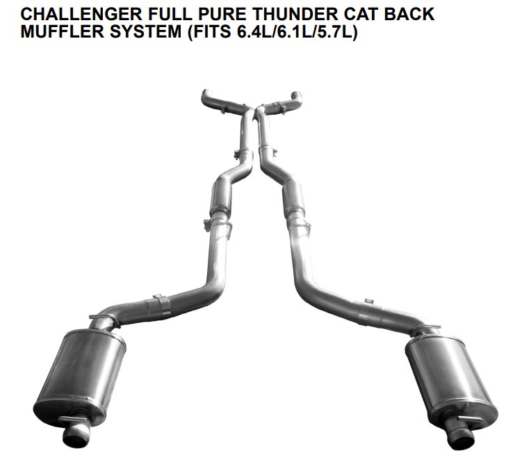 2008-2014 Challenger V8 American Racing Headers Cat-Back