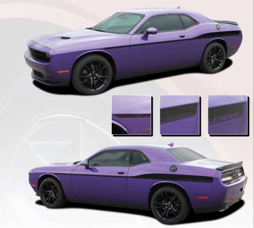 2008-2019 Challenger Roadline Side Stripe Kit