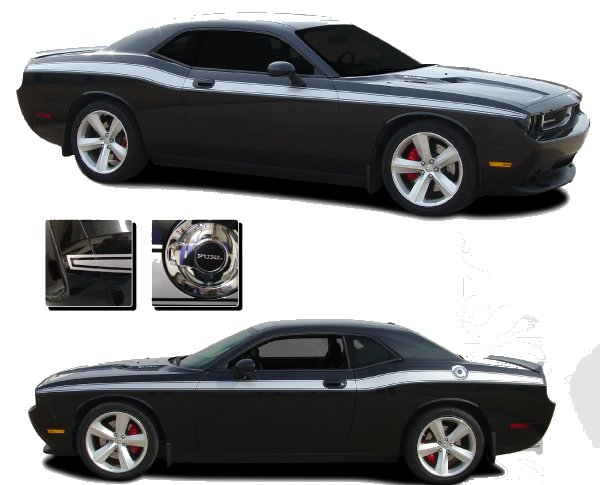2009-2014 Dodge Challenger Classic Track Side Stripes Kit