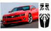 2010-2013 Camaro Dual Rally Over Car Flag Stripes Kit Coupe
