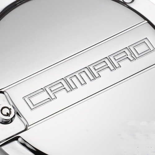 2010-2015 Camaro Billet Fuel Door - Chrome