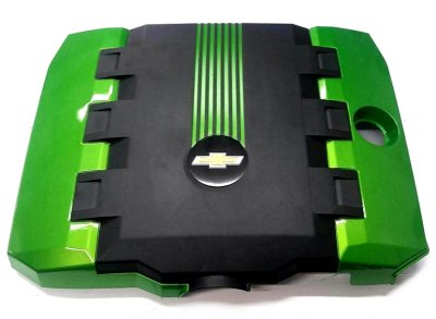 2010-2015 Camaro Painted Engine Cover - V6 Two Tone