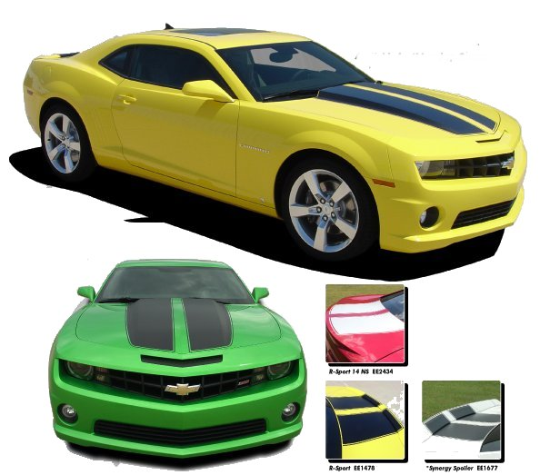 2010-2015 Camaro R-Sport Rally Hood Stripes kit