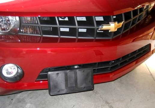 2010-2015 Camaro Retractable Front License Plate Bracket Show N Go & 2010-2015 Camaro Front Plate Bracket Show N Go - RPIDesigns.com