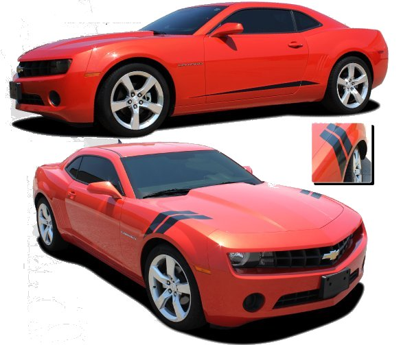 2010-2015 Camaro Rocker Spike or Double Bar Side Stripes Kits