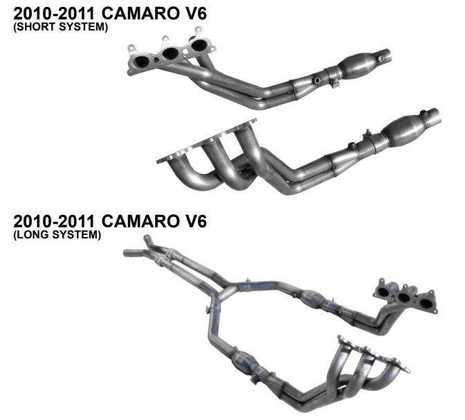 2010 2011 camaro v6 long tube american racing headers