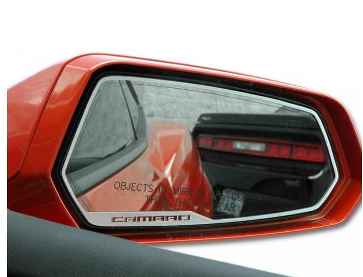 2010-2015 Camaro Side View Mirror Trim with Logo