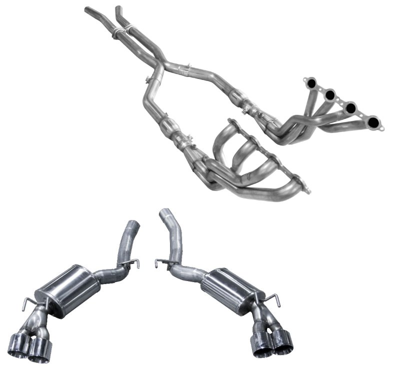 2012-2015 Camaro V8 American Racing Headers Full System (Quad Tips)