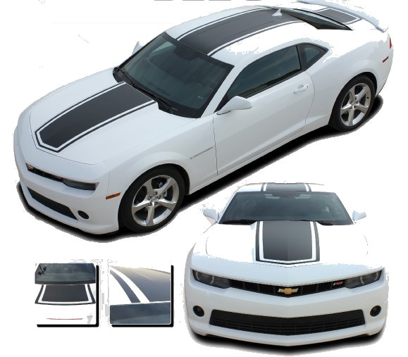 2014-2015 Camaro Bee 3 Hood Roof and Deck Stripes Kit