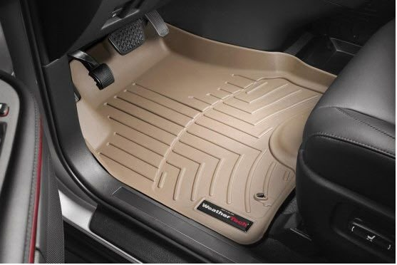 C7 Corvette WeatherTech Floor Liners - Tan