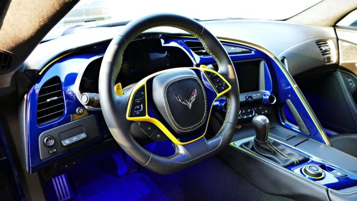 C7 Corvette Painted Dash Cluster Any C7 Color
